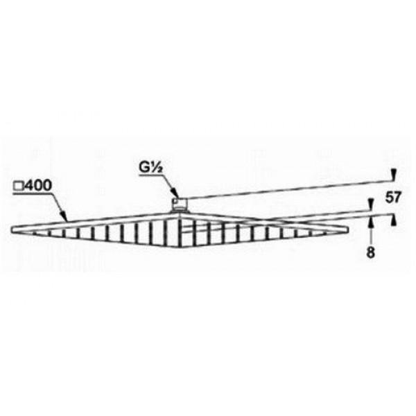 Верхний душ квадратный 400 мм Kludi A-QA 644400500