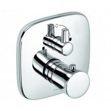 Внешняя часть смесителя для ванны с термостатом скрытого монтажа Kludi Ambienta 538300575
