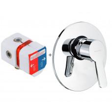 Внешняя часть смесителя для ванны скрытого монтажа Kludi Logo Neo 374200575+38625
