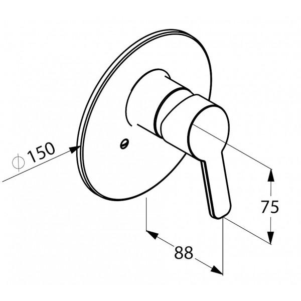 Внешняя часть смесителя скрытого монтажа Kludi Logo Neo 374200575