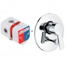 Смеситель для ванны скрытого монтажа комплект Kludi Logo Neo 374190575+38625
