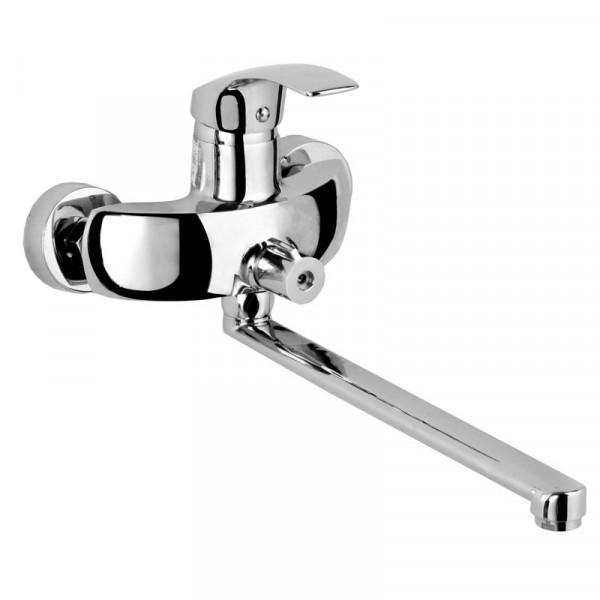 Смеситель для ванны с длинным изливом ROZZY JENORI BARON RBZ014-9B
