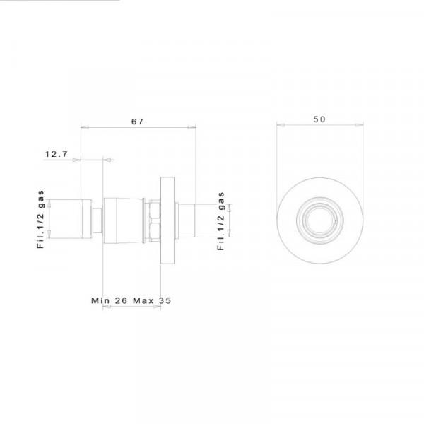 Быстросъемное соединение inGENIUS IG100R-1/2G без фильтра