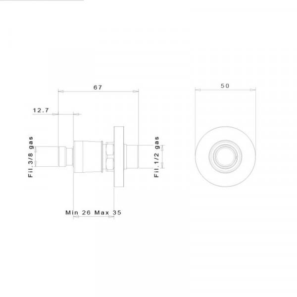Быстросъемное соединение inGENIUS IG100R-3/8G без фильтра