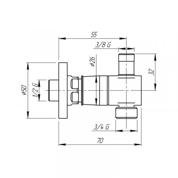 Быстросъемное соединение inGENIUS IG103RALS с фильтром, для стиральной/посудомоечной машин (с краном) 3/4х3/8
