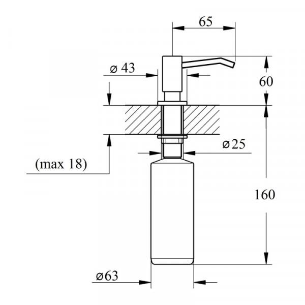 Дозатор жидкого мыла Imperial D15