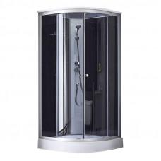 Душевой бокс Q-tap SB9090.1 SAT (Black/Grey)
