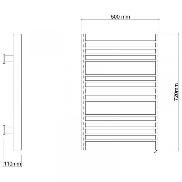 Электрическийполотенцесушитель Qtap Evia11109 CRM