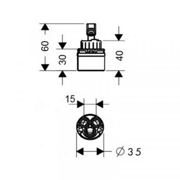 Картридж Qtap 35 mm ECO