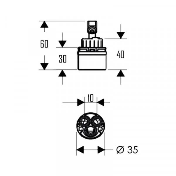 Картридж Qtap 35 mm
