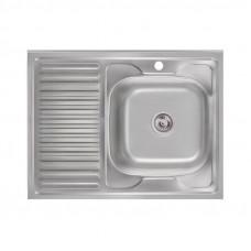 Кухонная мойка 6080-R Satin (0,6 мм)