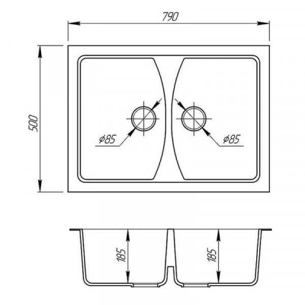 Кухонная мойка двойная Fosto7950kolor 420 (FOS7950SGA420)