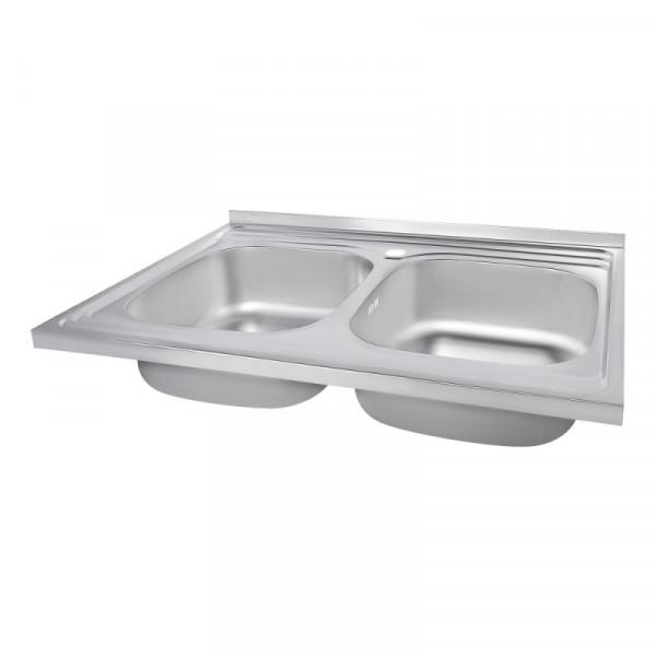 Кухонная мойка двойная Imperial 6080 Decor (IMP6080DEC)