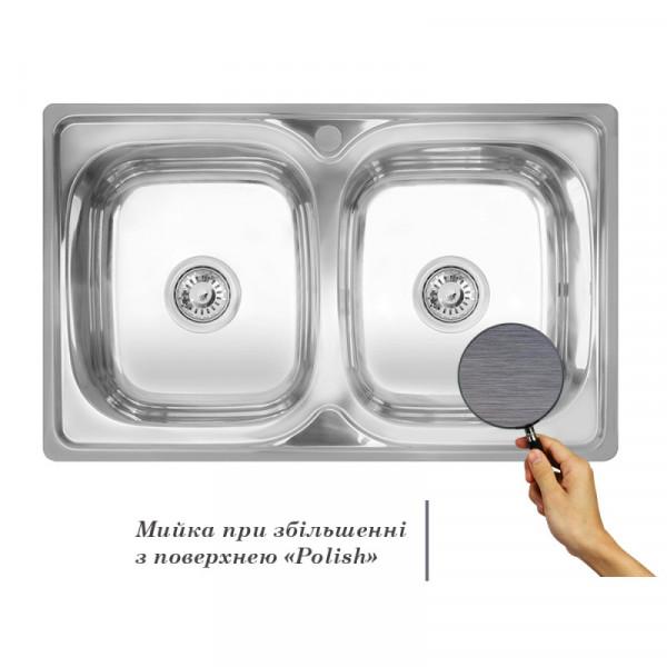 Кухонная мойка двойная Imperial 7948 Polish (IMP7948POL)