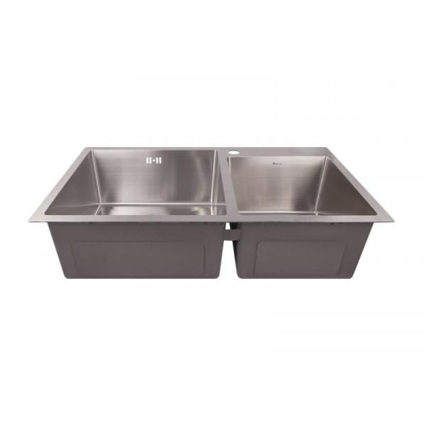 Кухонная мойка двойная Imperial S7843 Handmade 2.7/1.0 mm (IMPS7843H12)