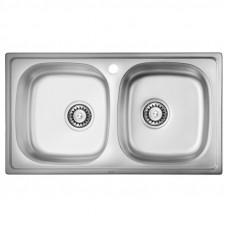 Кухонная мойка двойная ULA 5104 Satin (ULA5104SAT08)