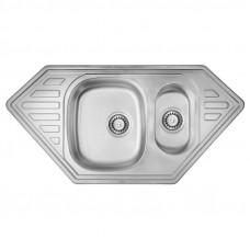Кухонная мойка двойная ULA 7802 Micro Decor