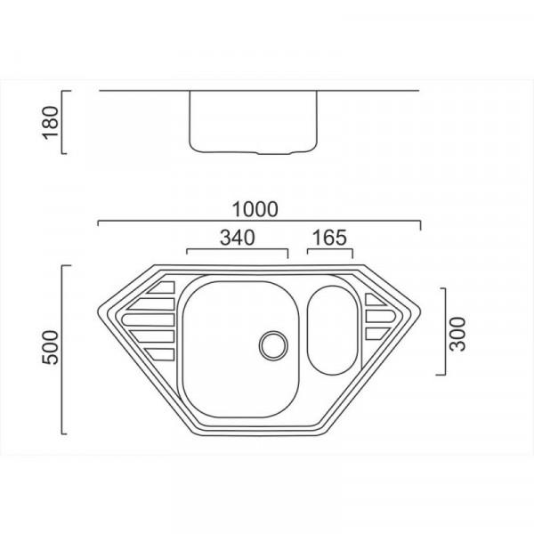 Кухонная мойка двойная ULA 7802 Satin