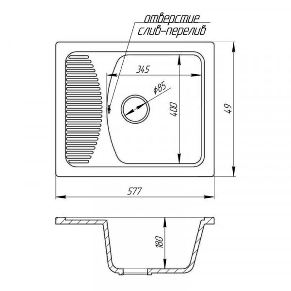Кухонная мойка Fosto5850kolor 800 (FOS5850SGA800)