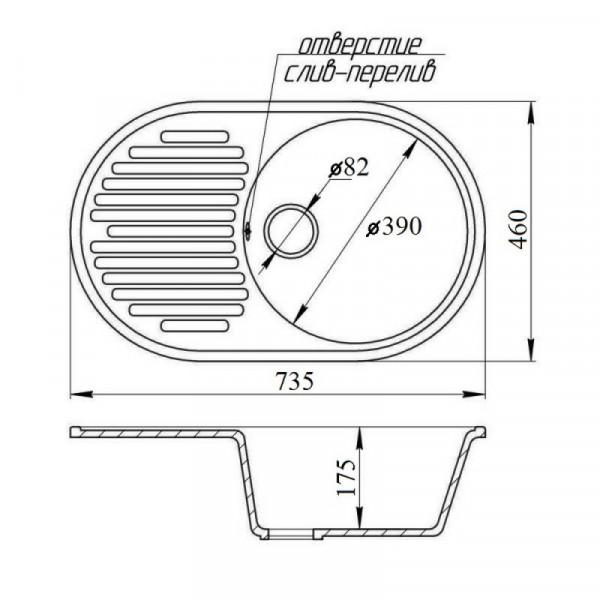 Кухонная мойка Fosto7446kolor 806 (FOS7446SGA806)