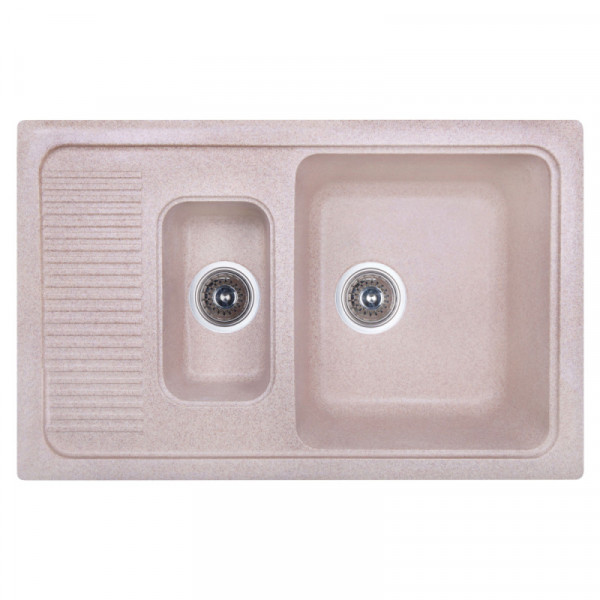 Кухонная мойка Fosto7749kolor 806 с доп чашей (FOS7749SGA806)