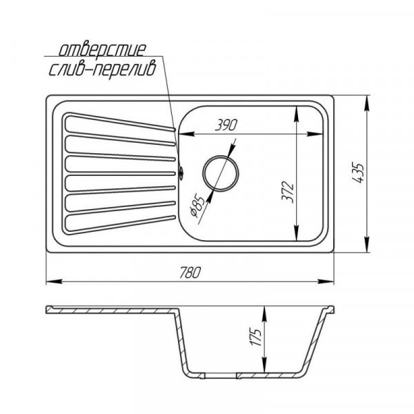 Кухонная мойка Fosto8146kolor 806 (FOS8146SGA806)