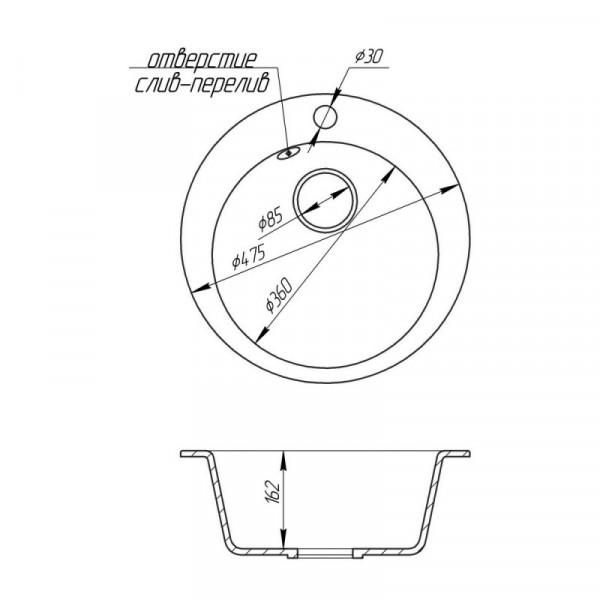 Кухонная мойка FostoD470kolor 800 (FOSD470SGA800)
