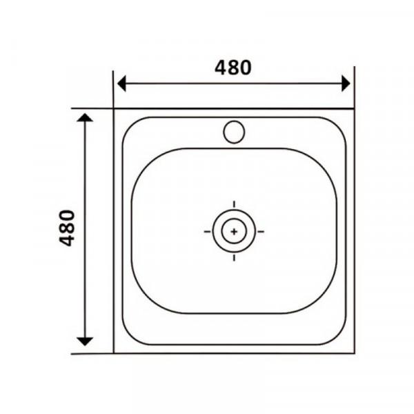 Кухонная мойка Imperial 4848 Decor (IMP484806DEC)