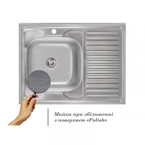 Кухонная мойка Imperial 6080-L Polish (IMP6080L06POL)