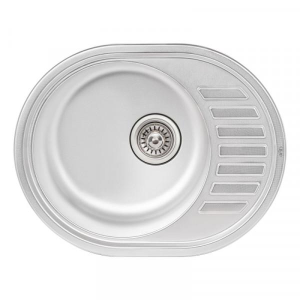 Кухонная мойка Qtap 5745 Micro Decor 0,8 мм (QT5745MICDEC08)