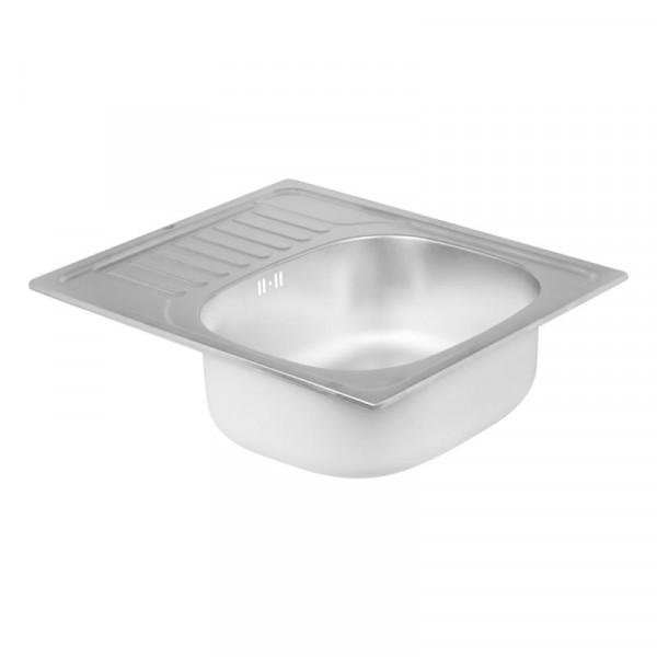Кухонная мойка Qtap 5848 Satin 0,8 мм (QT5848SAT08)