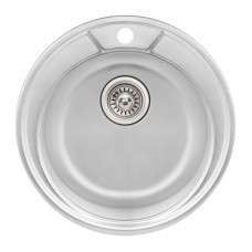 Кухонная мойка Qtap D490 Micro Decor 0,8 мм (QTD490MICDEC08)