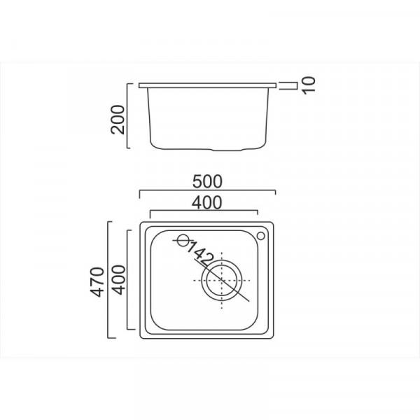 Кухонная мойка ULA 6110 Satin (ULA6110SAT08)