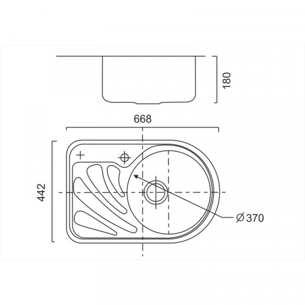 Кухонная мойка ULA 7111 R Satin (ULA7111SAT08R)