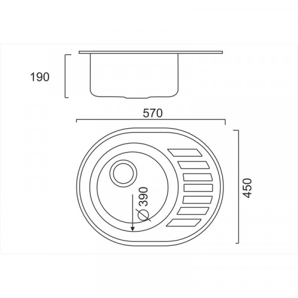 Кухонная мойка ULA 7112 U Satin (ULA7112SAT08)