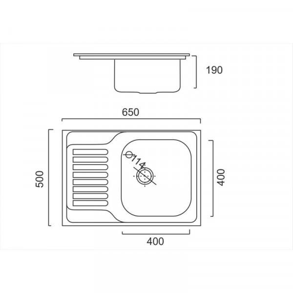 Кухонная мойка ULA 7202 U Satin (ULA7202SAT08)