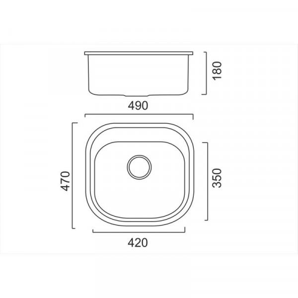 Кухонная мойка ULA 7701 U Satin (ULA7701SAT08)