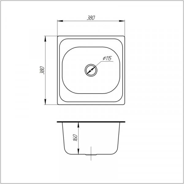 Кухонная мойка ULA 7706 U Micro Decor (ULA7706DEC08)