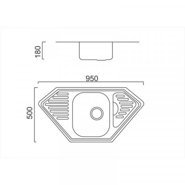 Кухонная мойка ULA 7801 U Micro Decor (ULA7801DEC08)