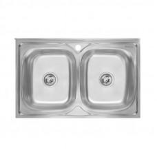 Кухонная мойка двойная Imperial 6080 Satin (IMP6080SAT)