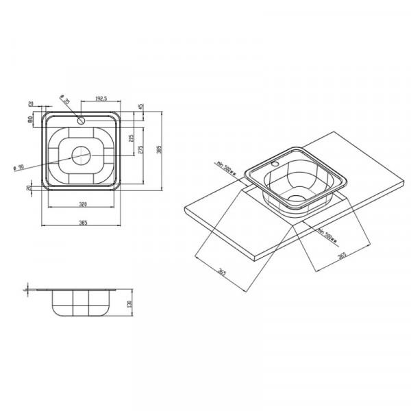 Кухонная мойка Imperial 3838 Satin (IMP383806SAT)
