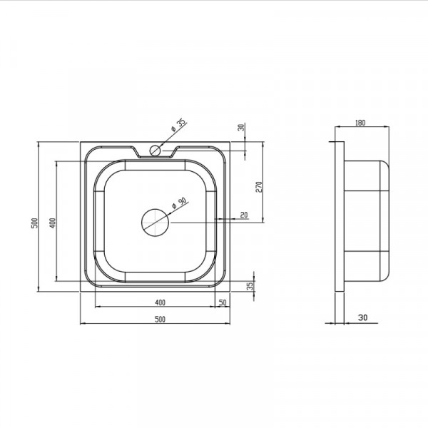 Кухонная мойка Imperial 5050 Decor (IMP5050DEC)