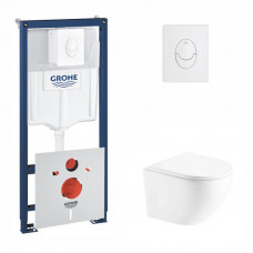 Набор инсталляция 4 в 1 Grohe Rapid SL 38722001 + унитаз с сиденьем Q-tap Robin QT1333046ENRW