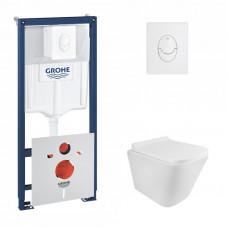 Набор инсталляция 4 в 1 Grohe Rapid SL 38722001 + унитаз с сиденьем Q-tap Tern QT1733052ERW