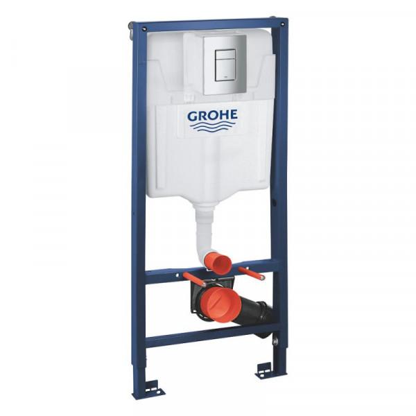 Набор инсталляция 4 в 1 Grohe Rapid SL 38772001 + унитаз с сиденьем Q-tap Tern QT1733052ERW