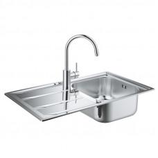 Набор кухонная мойка Grohe Sink 31570SD0 K400 смеситель Concetto 32663001