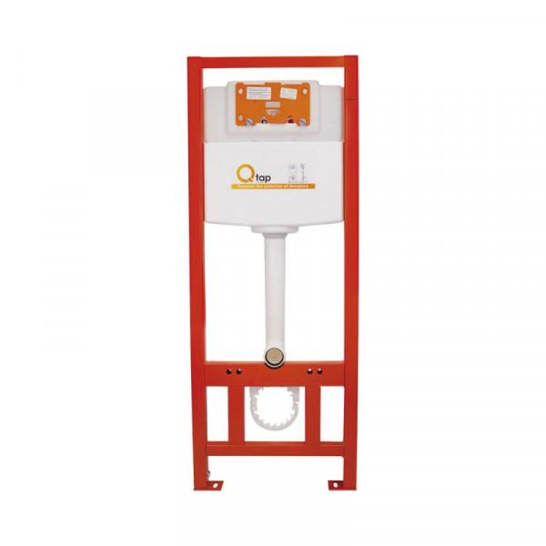 Набор Q-tap инсталляция 3 в 1 Nest QT0133M425 с панелью смыва круглой QT0111M11111SAT + унитаз с сиденьем Crow QT05335170W