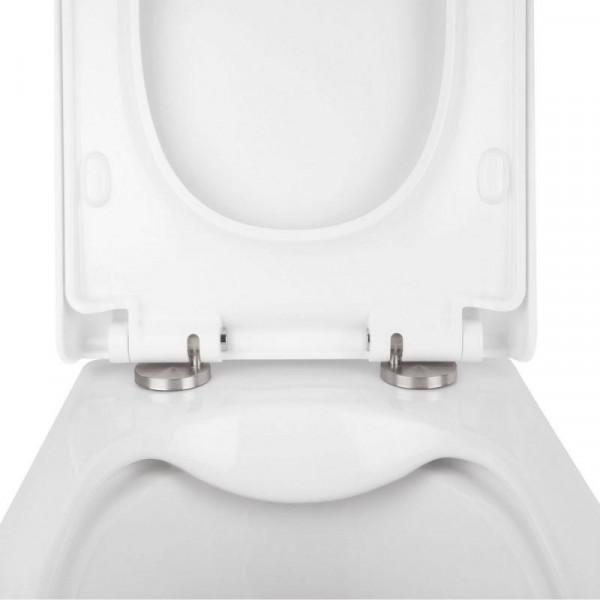 Набор Q-tap инсталляция 3 в 1 Nest QT0133M425 с панелью смыва круглой QT0111M11V1146MB + унитаз с сиденьем Crow QT05335170W