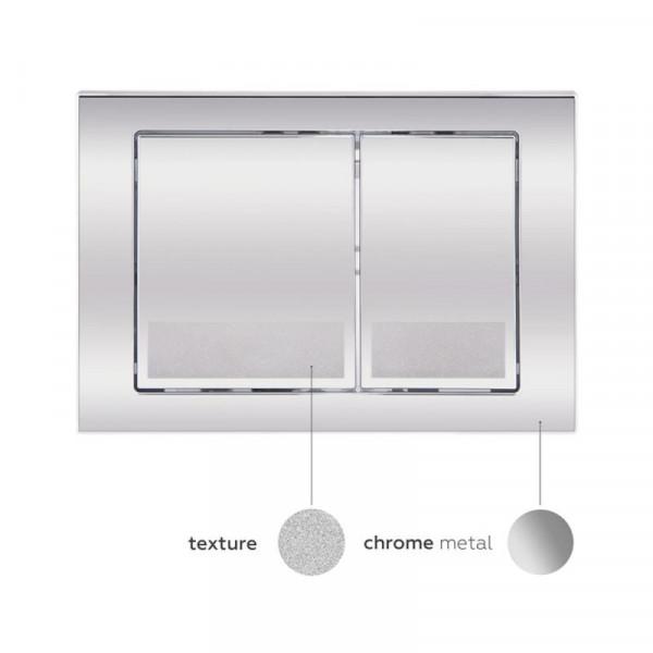 Набор Q-tap инсталляция 3 в 1 Nest QT0133M425 с панелью смыва квадратной QT0111M06028CRM + унитаз с сиденьем Swan QT16335178W
