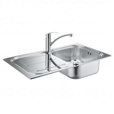 Набор кухонная мойка Grohe Sink 31565SD0 K300 и смеситель Eurosmart 33281002